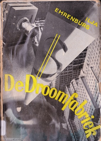 The jacket flap of the Dutch translation De Droomfabriek, stocked in the KU Leuven Central Library.